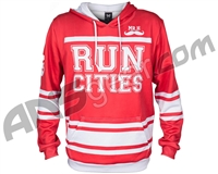 HK Army Run Cities Pull Over Hooded Sweatshirt - Red