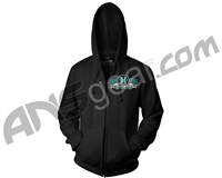HK Army Shield Zip-Up Hooded Sweatshirt - Black