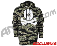HK Army Skull Pull Over Hooded Sweatshirt - Tiger Stripe