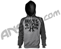 HK Army Stencil Pull Over Hooded Sweatshirt - Grey