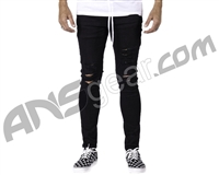 HK Army Thrasher Distressed Denim Jeans - Black