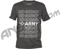 HK Army Parallel Paintball T-Shirt - Heather Charcoal