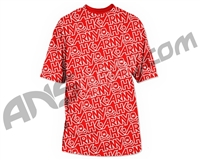HK Army Typeface All Over Paintball T-Shirt - Red