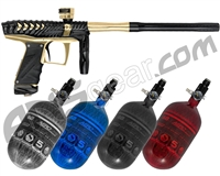 HK Army VCOM Ripper Paintball Gun w/ FREE Aerolite 68/4500 Tank w/ Std Reg - Black/Gold