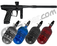 HK Army VCOM Ripper Paintball Gun w/ FREE Aerolite 68/4500 Tank w/ Std Reg - Dust Black/Black