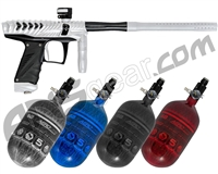 HK Army VCOM Ripper Paintball Gun w/ FREE Aerolite 68/4500 Tank w/ Std Reg - Dust White/Black
