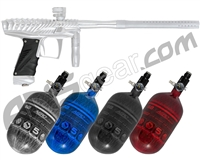 HK Army VCOM Ripper Paintball Gun w/ FREE Aerolite 68/4500 Tank w/ Std Reg - Dust White/Silver