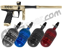 HK Army VCOM Ripper Paintball Gun w/ FREE Aerolite 68/4500 Tank w/ Std Reg - Gold/Black