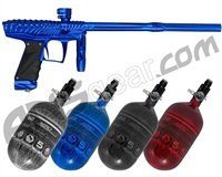 HK Army VCOM Ripper Paintball Gun w/ FREE Aerolite 68/4500 Tank w/ Std Reg - Polished Blue
