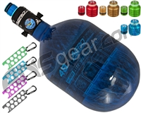 HK Army Aerolite Tank w/ Pro Adjustable Regulator & Free Thread Protector, Nipple Cover & Ball Sizer - 48/4500 - Blue