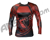 Contract Killer Long Sleeve Stained Rashguard - Red/Black
