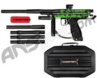 Inception Designs Retro FLE Autococker Paintball Gun - Green Splash