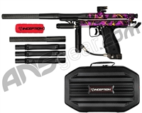 Inception Designs Retro FLE Autococker Paintball Gun - Purple Splash