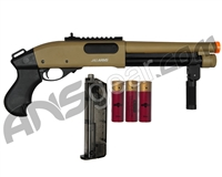 Jag Arms Scattergun Super CQB Gas Airsoft Shotgun - Tan