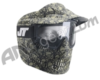 JT Alpha Single Paintball Goggles - Limited Edition Olive Skull