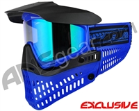 Jt ProFlex Thermal Paintball Mask - Blue/Black w/ Prizm 2.0 Fluorite Lens