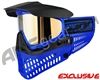 Jt ProFlex Thermal Paintball Mask - Blue/Black w/ Prizm 2.0 Gold Lens