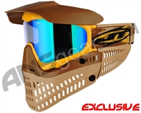 Jt ProFlex Thermal Paintball Mask - Brown/Tan/Gold w/ Prizm 2.0 Fluorite Lens