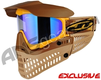 Jt ProFlex Thermal Paintball Mask - Brown/Tan/Gold w/ Prizm 2.0 Sky Lens