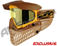 Jt ProFlex Thermal Paintball Mask - Brown/Tan/Gold w/ Yellow Lens