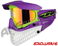 Jt ProFlex Thermal Paintball Mask - Purple/Lime/White w/ Prizm 2.0 Hi-Def Lens