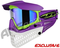 Jt ProFlex Thermal Paintball Mask - Purple/Lime/White w/ Prizm 2.0 Sky Lens