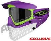 Jt ProFlex Thermal Paintball Mask - Purple/Lime/White w/ Smoke Lens