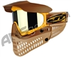 JT Pro-Flex Thermal Paintball Mask - Brown/Tan/Gold