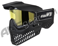 JT ProFlex OG Thermal Paintball Mask - Black/Black w/ Yellow Lens
