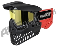 JT ProFlex OG Thermal Paintball Mask - Black/Red w/ Yellow Lens