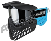 JT ProFlex OG Thermal Paintball Mask - Black/Sky Blue w/ Prizm Chrome Lens