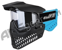JT ProFlex OG Thermal Paintball Mask - Black/Sky Blue w/ Clear Lens
