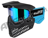 JT ProFlex OG Thermal Paintball Mask - Black/Sky Blue w/ Prizm 2.0 Fluorite Lens