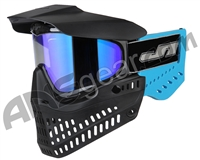 JT ProFlex OG Thermal Paintball Mask - Black/Sky Blue w/ Prizm 2.0 Sky Lens
