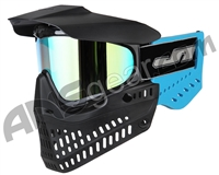 JT ProFlex OG Thermal Paintball Mask - Black/Sky Blue w/ Prizm 2.0 Yellow Retro Lens