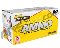 JT Splatmaster .50 Cal 1000ct Ammo - Yellow Fill