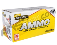 JT Splatmaster .50 Cal 2000ct Ammo - Yellow Fill