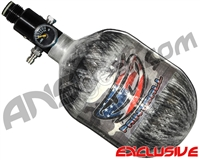 JT Mega Lite 48/4500 Compressed Air Paintball Tank - USA Flag (Grey)