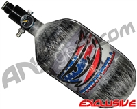 JT Mega Lite 68/4500 Compressed Air Paintball Tank - USA Flag (Grey)