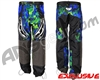 JT Team Paintball Pants - Retro Blue/Lime