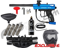 Kingman Spyder Victor Epic Paintball Gun Package Kit - Gloss Blue