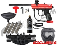 Kingman Spyder Victor Epic Paintball Gun Package Kit - Gloss Red