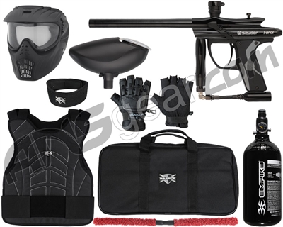 Kingman Spyder Fenix Level 1 Protector Paintball Gun Package Kit