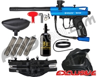 Kingman Spyder Victor Legendary Paintball Gun Package Kit - Gloss Blue