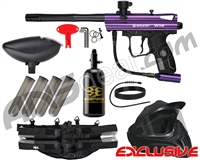 Kingman Spyder Victor Legendary Paintball Gun Package Kit - Gloss Purple
