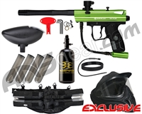 Kingman Spyder Victor Legendary Paintball Gun Package Kit - Gloss Slime