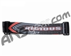 KM Paintball Universal JT Goggle Strap - 09 Vicious Black/Red