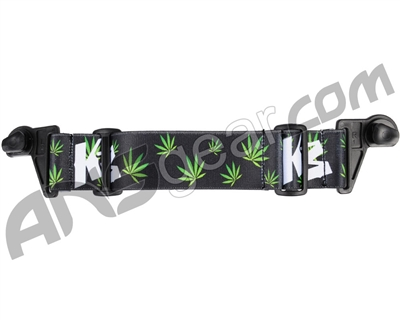 KM Paintball EVS Goggle Strap - Green Leaf