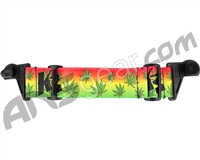 KM Paintball EVS Goggle Strap - Green Leaf Rasta