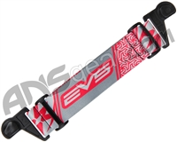 KM Paintball EVS Goggle Strap - Red/Grey